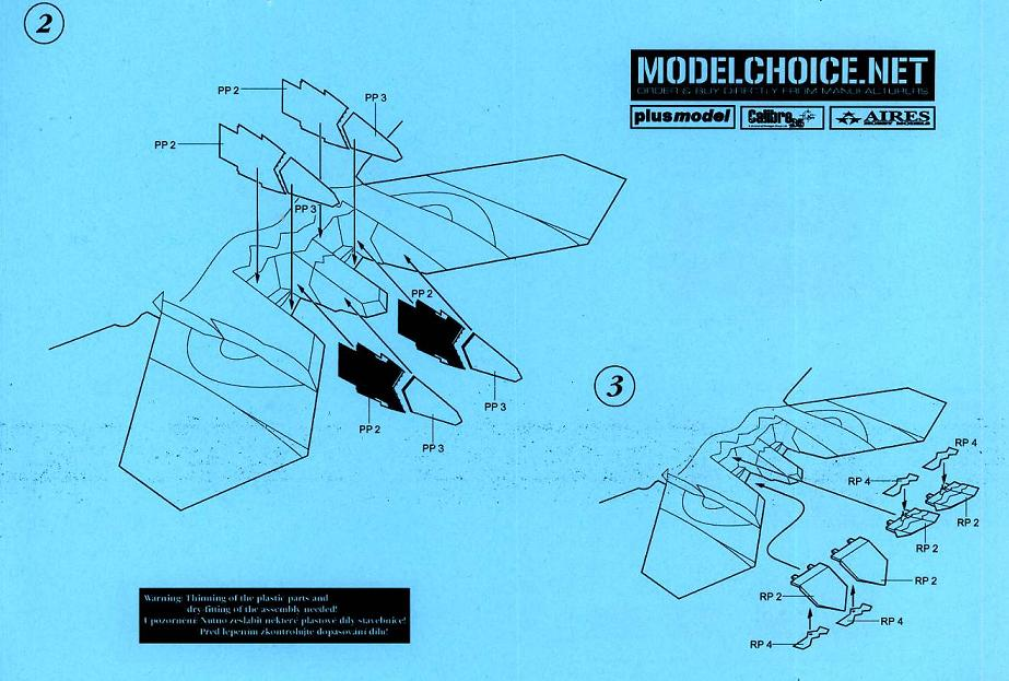HAS in 1:48 Aires 4484 F-22A Raptor exhaust nozzles-opened