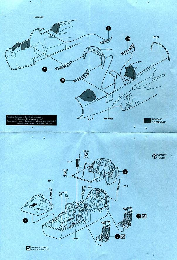 in 1:72 AIRES 7266 Cockkpit Set for Hasegawa® Kit EA-6B Prowler ICAP-2 Early