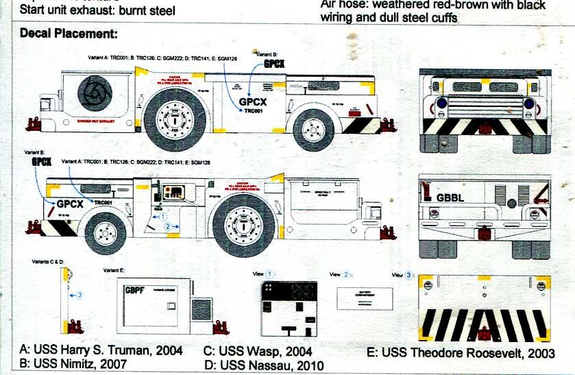 F4 Models F4m7002 A  S32a-31a Flight Deck Tractor